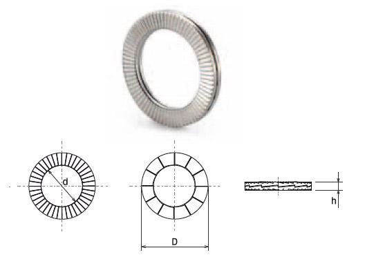 Con diametro esterno standard adatto anche per bulloni incassati