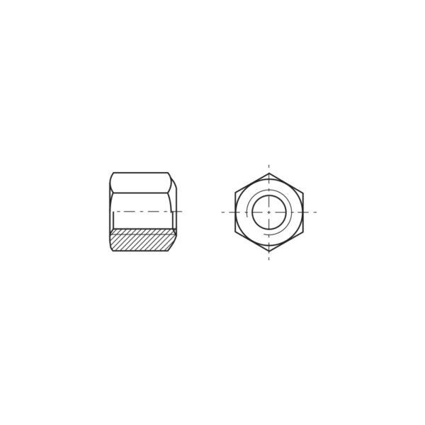 Dadi esagonali alti 1,5 volte il diametro con una estremità sferica