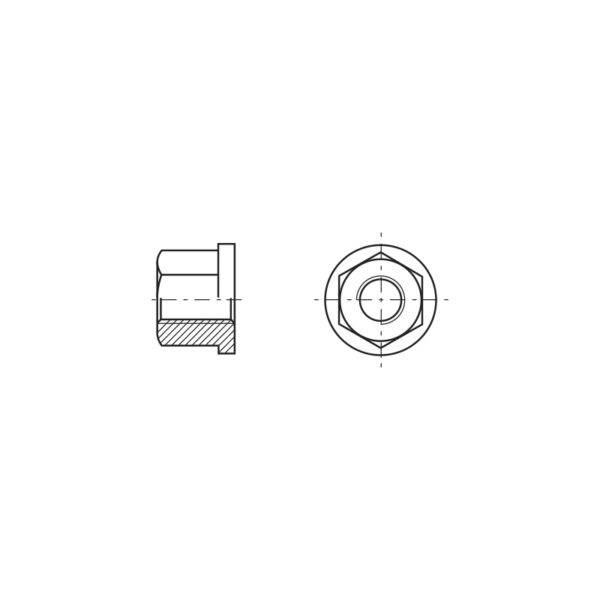 Dadi esagonali con bordino alti 1,5 volte il diametro