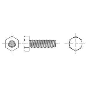 Viti autoformanti sezione trilobata a testa esagonale