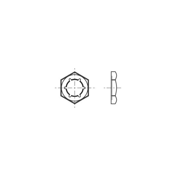 Controdadi esagonali elastici con filetto metrico