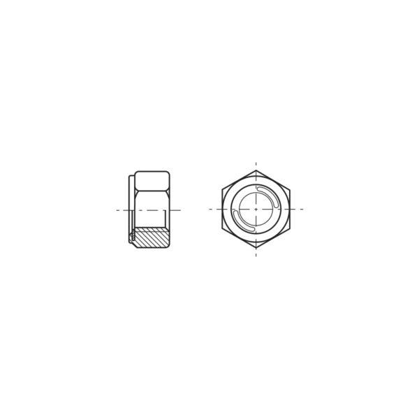 Dadi esagonali autobloccanti con inserto metallico
