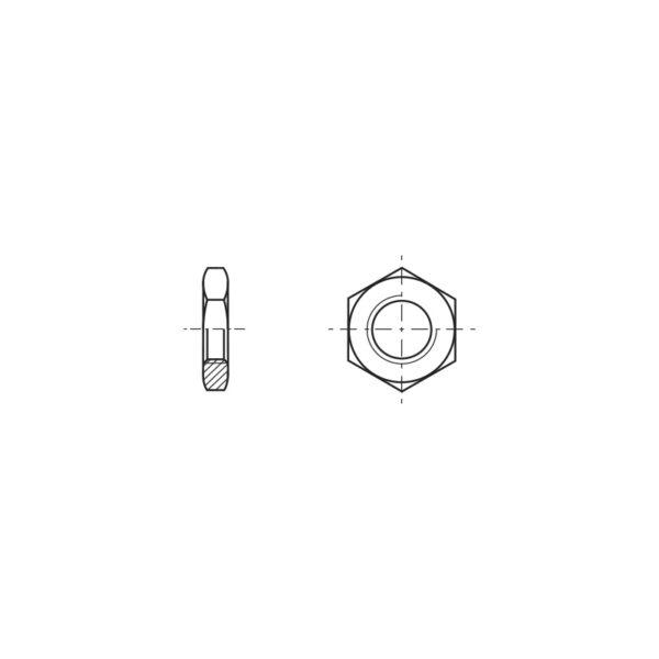 Dadi esagonali sottili con filetto metrico
