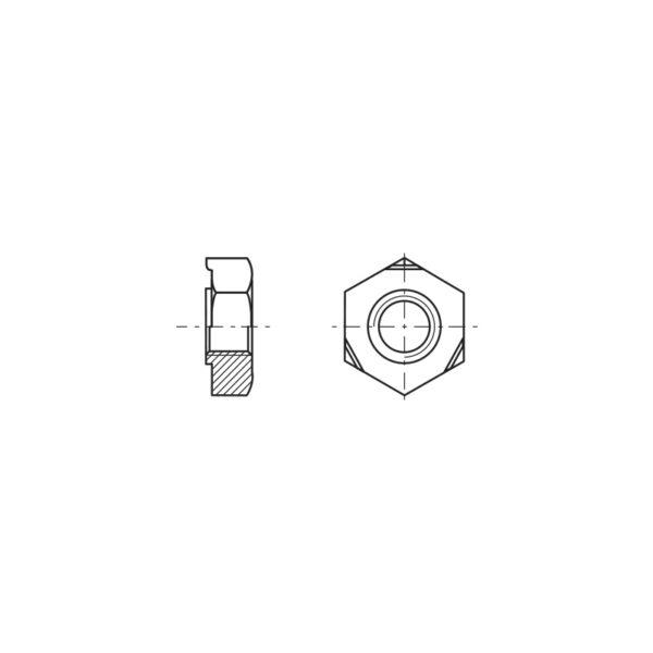 Dadi esagonali da saldare a proiezione con bugne triangolari a base larga
