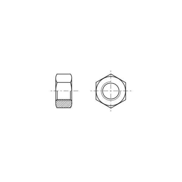 Dadi esagonali medi con filettatura UNC