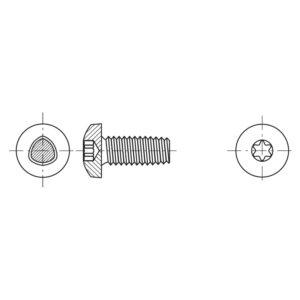 Viti autoformanti sezione trilobata a testa cilindrica con calotta ed impronta esalobata