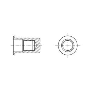 Inserti filettati a testa cilindrica ciechi - Tipo FTTC