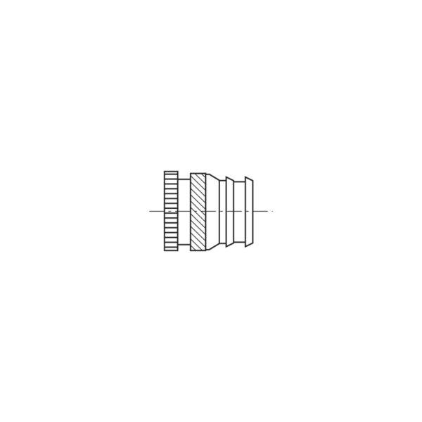 Inserti filettati per materie plastiche per fori conici ad inserimento Termico o Ultrasuoni - Serie lunga