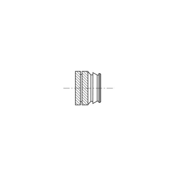 Inserti filettati per materie plastiche ad inserimento Termico o Ultrasuoni - Serie corta