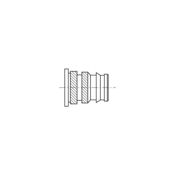 Inserti filettati per materie plastiche con testa cilindrica ad inserimento Termico o Ultrasuoni - Serie lunga