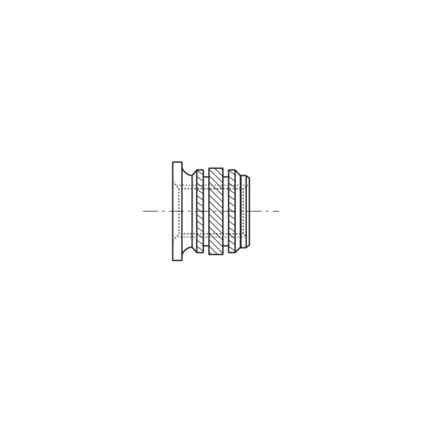 Inserti filettati per materie plastiche con testa cilindrica ad inserimento Termico o Ultrasuoni - Serie corta