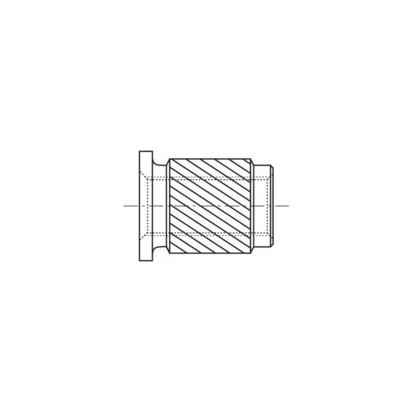 Inserti filettati per materie plastiche con testa cilindrica inserimento a pressione