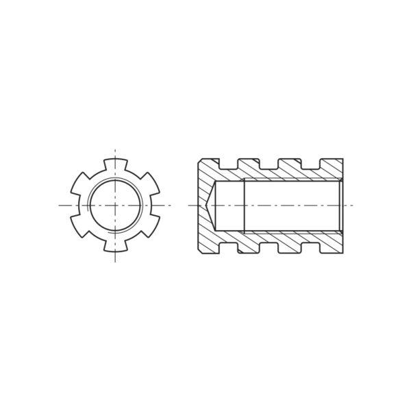 Inserti filettati per materie plastiche con foro cieco - co-stampaggio