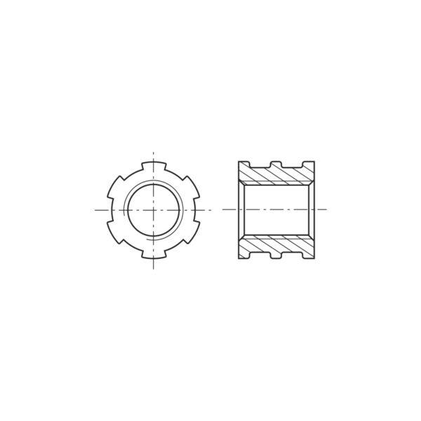 Inserti filettati per materie plastiche con foro passante - co-stampaggio